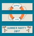 set of flyer templates with sea theme vector image vector image