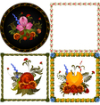 Set of images of decorative floral frame vector image vector image