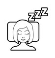 sleeping woman avatar icon vector image vector image