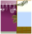 Spot light and window vector image vector image