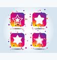 star of david icons symbol of israel vector image