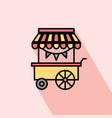 street food cart icon vector image vector image