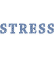 stress scribble vector image