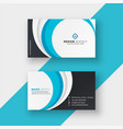 stylish blue wavy modern business card design vector image vector image