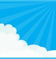 sun light rays burst blue sky sunshine fluffy vector image vector image