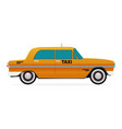 taxi old car flat design vector image vector image