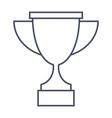 trophy cup for winner vector image vector image