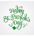 Typographic Saint Patricks Day Greeting Card vector image vector image