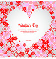 Valentine decorative invitation with love hesrt vector image vector image
