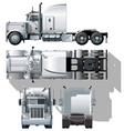 vector semi truck vector image vector image