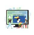 video blog flat style design vector image vector image