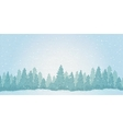 Vintage winter noontime forest landscape vector image vector image