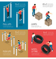 workout isometric design concept vector image vector image