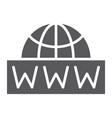 world wide net glyph icon communication network vector image
