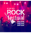 blurred background with rock stage and crowd Rock vector image