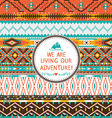 Seamless tribal pattern with geometric pattern vector image