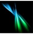 Magic neon light blue lines vector image