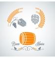 beer set design labels vector image