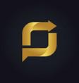 square arrow shape gold logo vector image