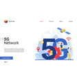 5g network concept cartoon vector image vector image