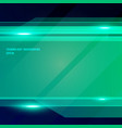 abstract technology geometric green color shiny vector image vector image