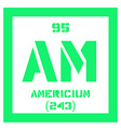 Americium chemical element vector image vector image