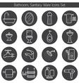 Bathroom Line Icons Set vector image