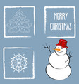 beautiful retro christmad card vector image vector image