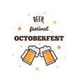 beer festival octoberfest vector image