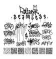 big set seamless patterns graffiti style vector image vector image