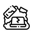 broken devices icon outline vector image vector image