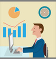 business man on work vector image vector image