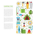 camping icon flat vector image vector image