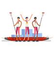canoeist symbol canoeing icon vector image vector image