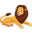 cartoon lion isolated on white background vector image vector image