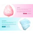 cherry and blueberry cotton candies web banners vector image vector image