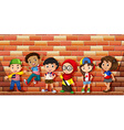 Children from different countries vector image