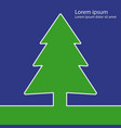 christmas tree green flat icon eps 10 il vector image