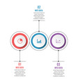 circle infographic template three option process vector image vector image