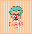 circus clown badge retro funnyman vintage vector image vector image
