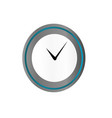 clock in blue and silver style isolated on vector image