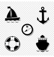 cruise icons collection for graphic design vector image vector image