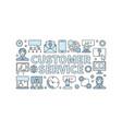 customer service modern horizontal banner vector image vector image