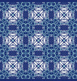 damask mosaic floral blue seamless tiles vector image vector image