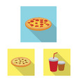 design of pizza and food logo set of pizza vector image