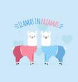 Doodle two llamas