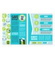 earth day brochure or poster template design vector image vector image