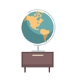 Earth Globe Icon vector image vector image