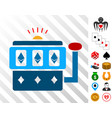 ethereum gambling machine icon with bonus vector image