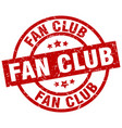 fan club round red grunge stamp vector image